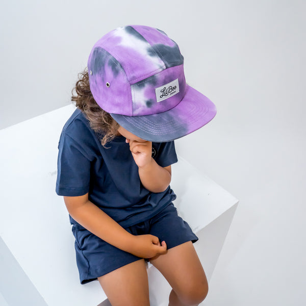 5 Panel Tie Dye - Purple (ORGANIC)