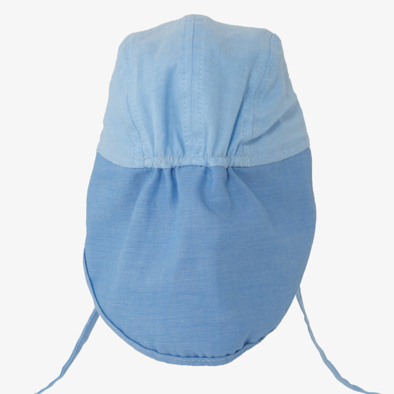 Soft Baby Sun Cap (UV) - Block Blue