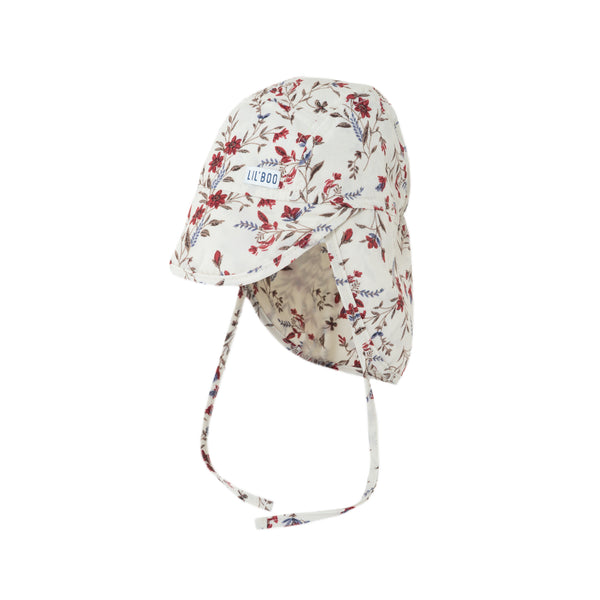 Soft Baby Sun Cap (UV) - Red Flowers