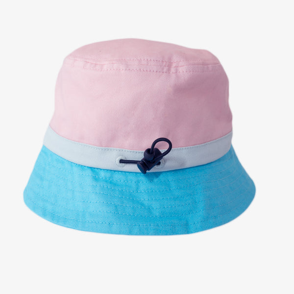Block Pink Bucket Hat (ORGANIC)