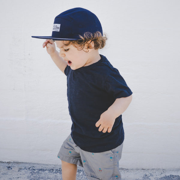 Lil' Boo's Navy Lux 5 Panel