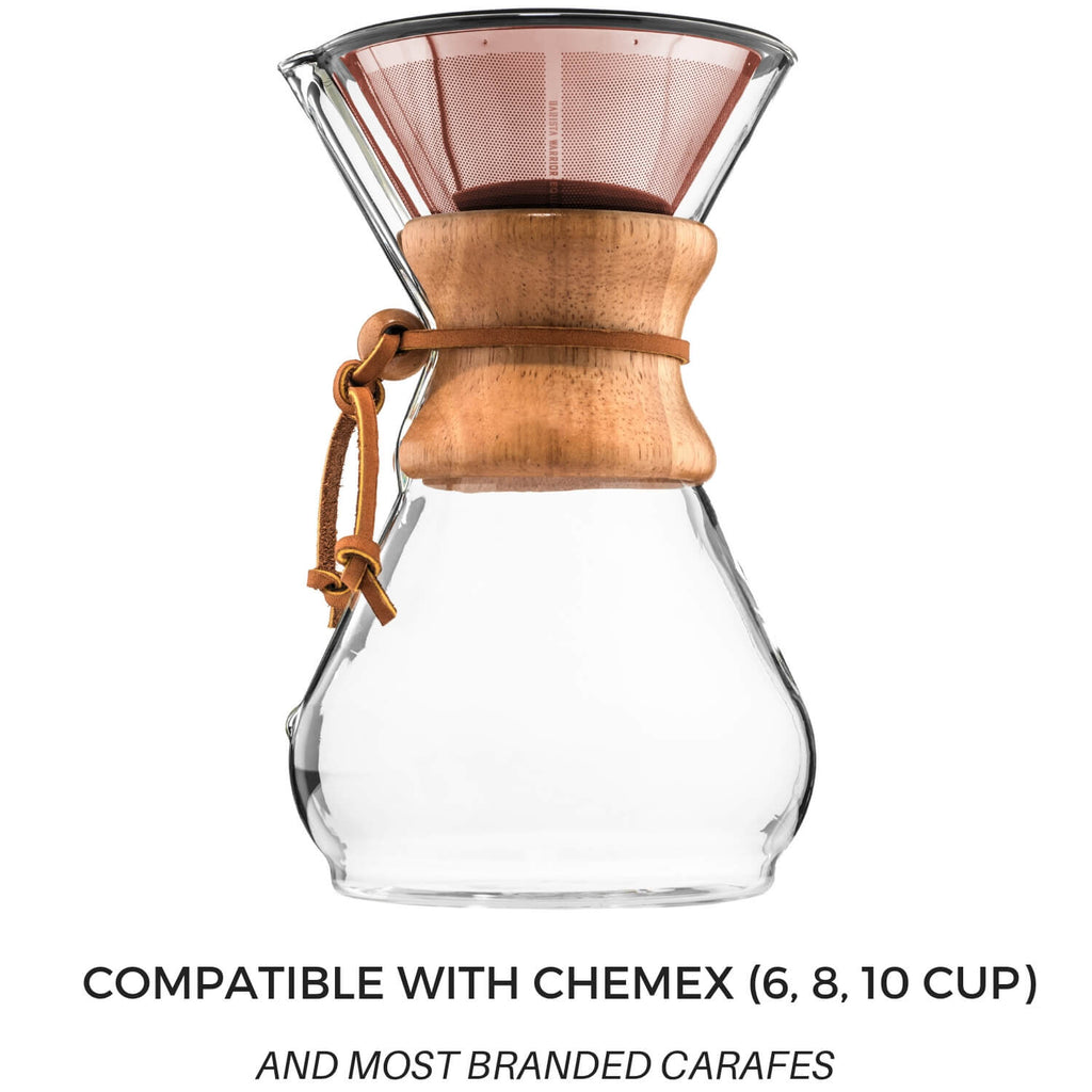 Reusable Pour Over Filter for Chemex and Hario V60 (Copper)