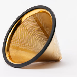 Reusable Pour Over Filter for Chemex and Hario V60 (Gold)