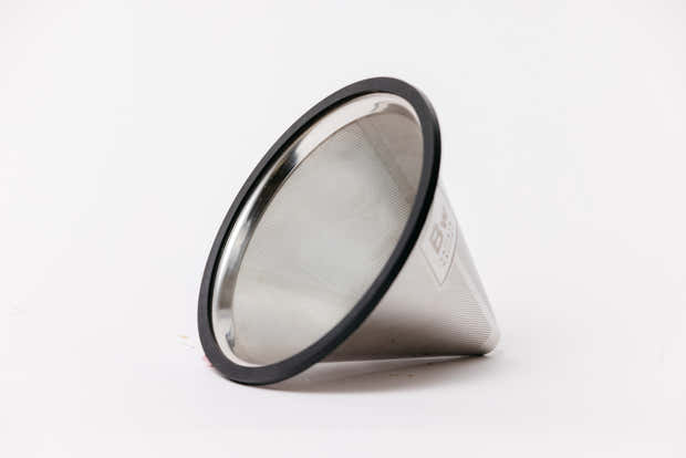 Reusable Pour Over Filter for Chemex and Hario V60 (Silver) 1