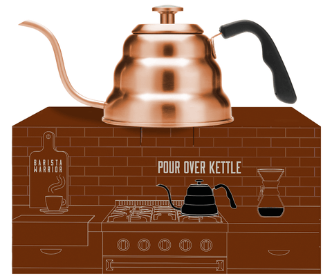 Pour Over Coffee Kettle - Large 1.0 Liter | 34 fl oz (Copper)
