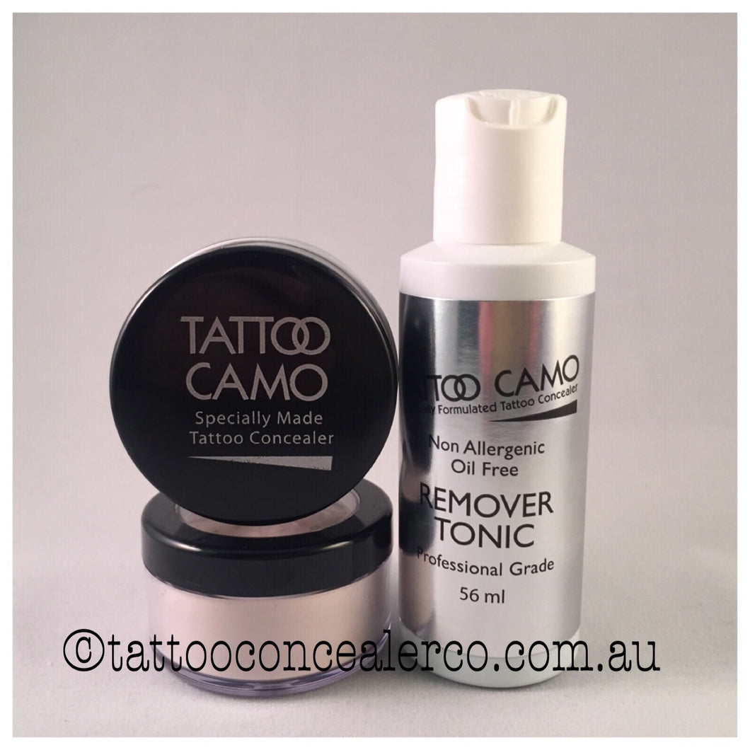 Tattoo Camo Concealer - Single Kit plus Remover Tonic