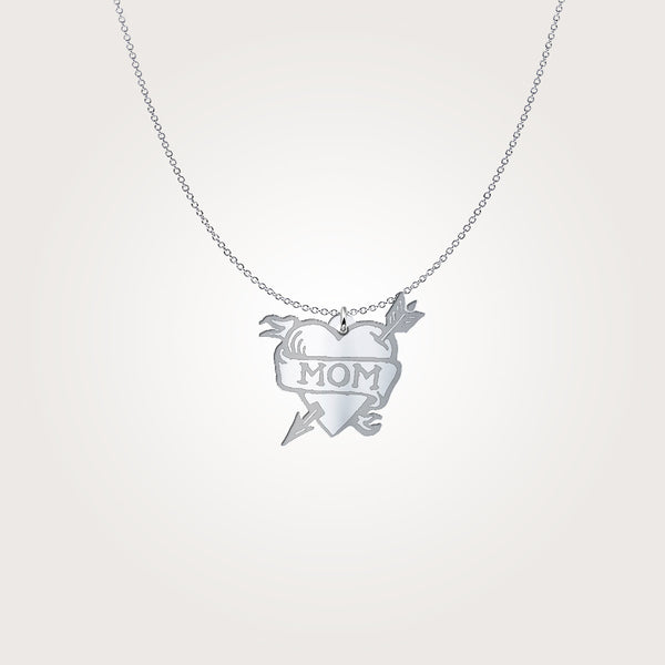 Mom Heart-shaped Necklace