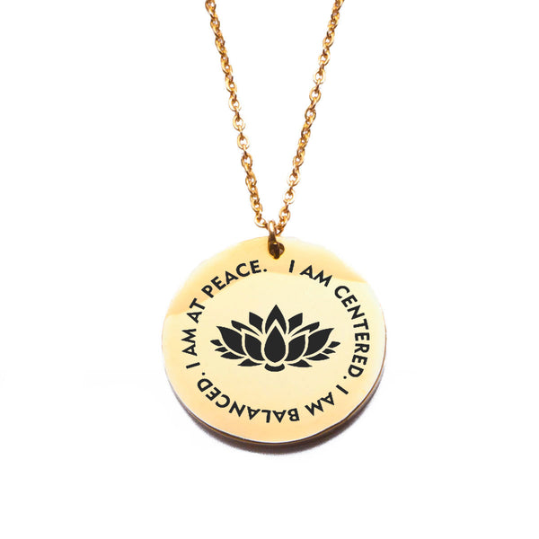 I Am At peace - Shiny Gold Pendant