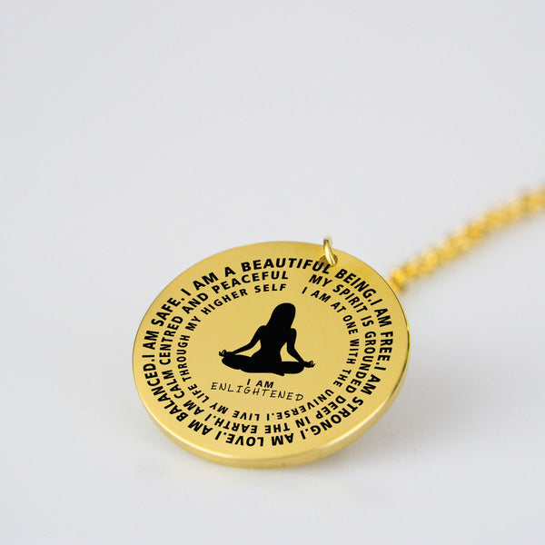 I Am Enlightened Yoga Necklace - Hosanna Store