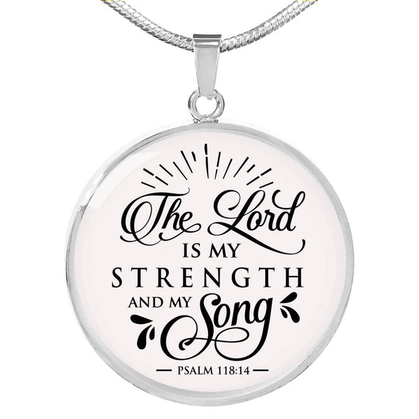 The Lord Is My Strength Song Necklace