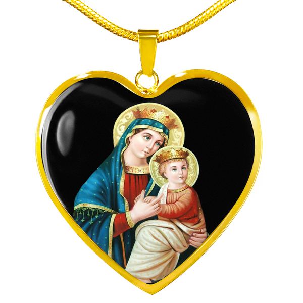 Mother Mary Blessed Heart Necklace - Hosanna Store