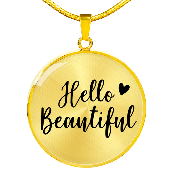 Hello Beautiful Necklace - Hosanna Store