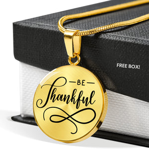 Be Thankful Necklace - Hosanna Store