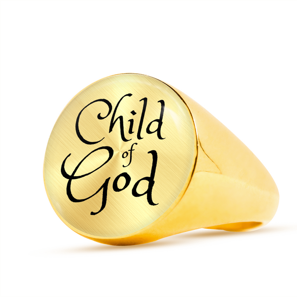 Child of God Signet Ring (Unisex) - Hosanna Store
