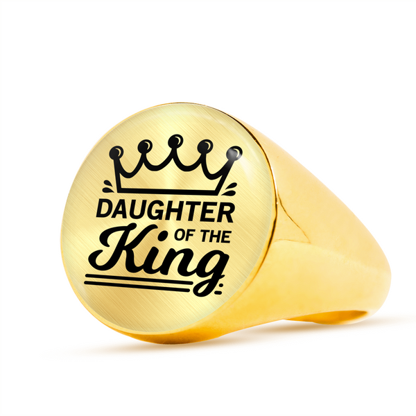 Daughter Of The King Signet Ring - Hosanna Store