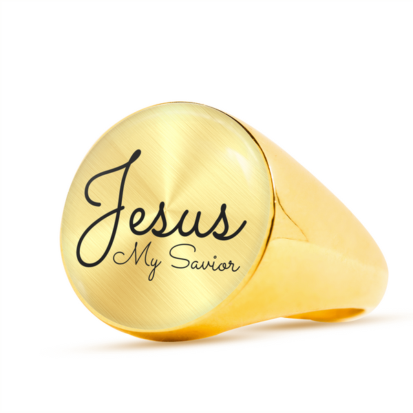 Jesus My Savior Signet Ring (Unisex)
