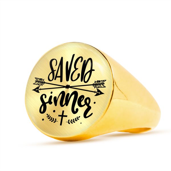 Saved Sinner Signet Ring (Unisex) - Hosanna Store
