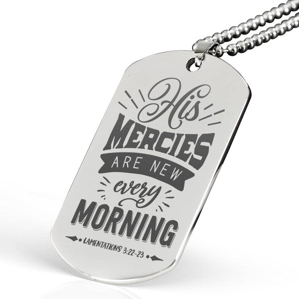 His Mercies Are New Every Morning Silver Necklace