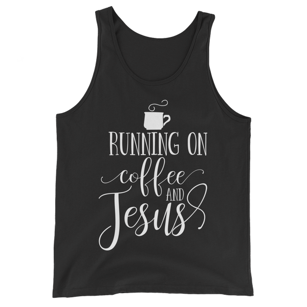Running on Coffee & Jesus Tank Top - Hosanna Store