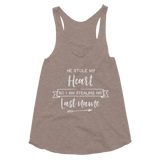 He Stole My Heart So I am Stealing His Last Name Women's Tri-Blend Racerback Tank - Hosanna Store