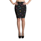 Fun Shapes Abstract Pattern Pencil Skirt - Hosanna Store