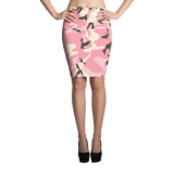Camouflage Pink Pencil Skirt