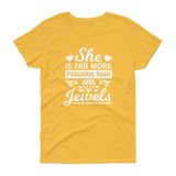 She Is More Precious Than Jewels T-shirt - Hosanna Store