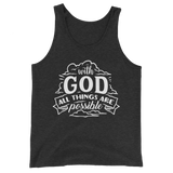 With God All Things Are Possible Tank Top - Hosanna Store