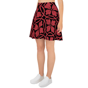 Black & Red Skater Skirt - Hosanna Store