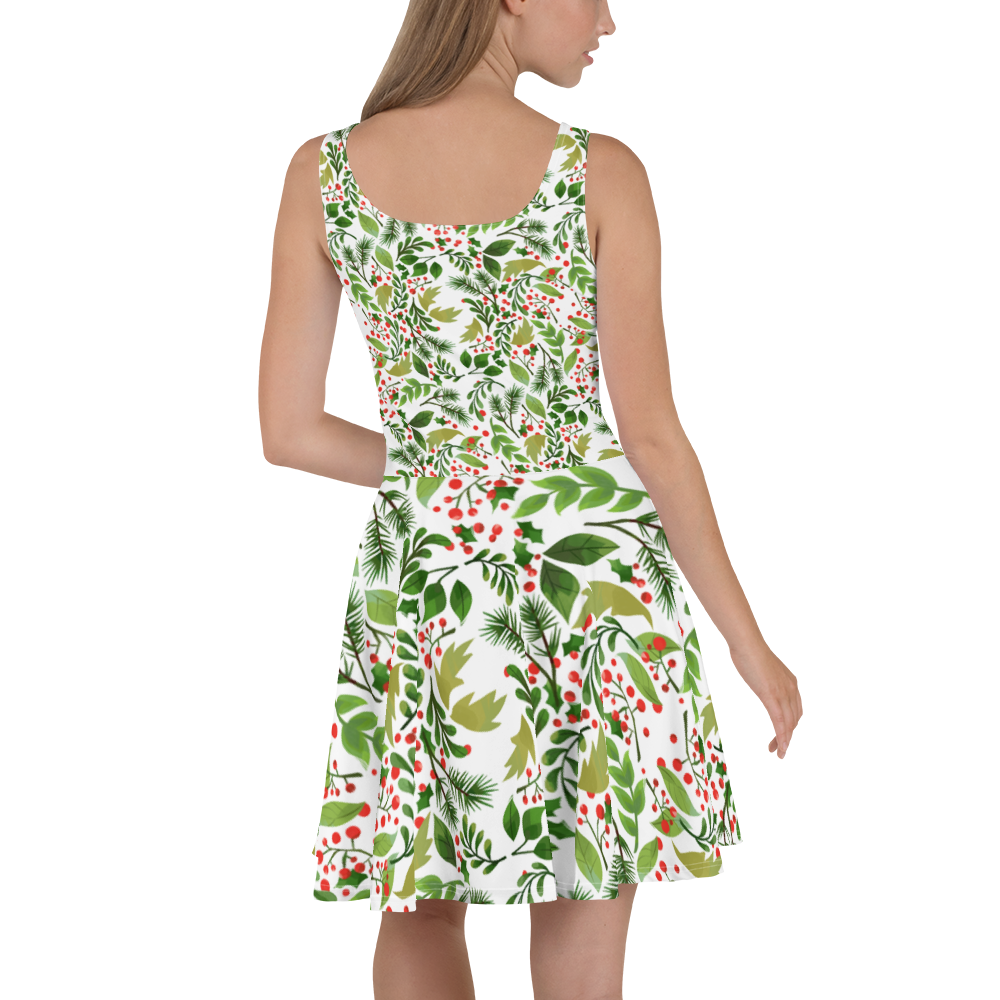 Holly Pattern Skater Dress - Hosanna Store