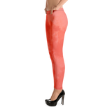 Watercolor Coral Dark Print Leggings - Hosanna Store
