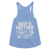 Wife Mother Coffee Lover Women's Tri-Blend Racerback Tank - Hosanna Store