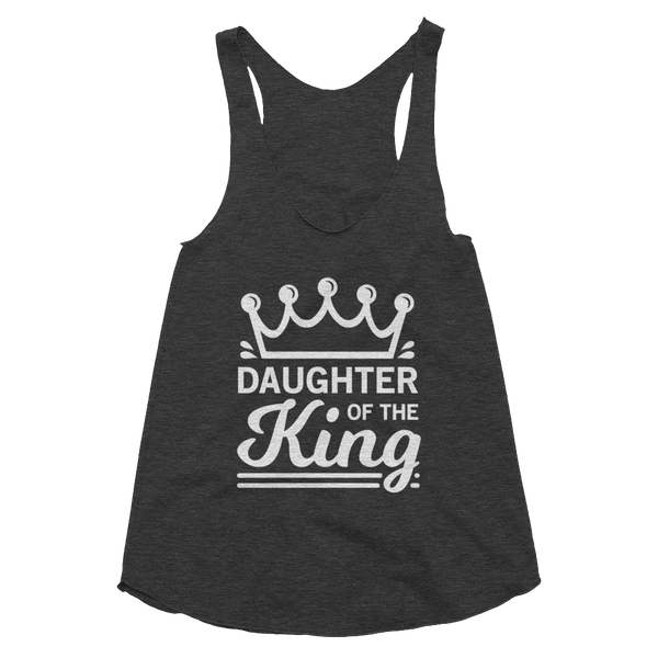Daughter of the King Women's Tri-Blend Racerback Tank - Hosanna Store