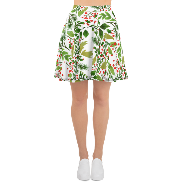 Holly Pattern Skater Skirt - Hosanna Store