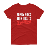 Sorry Boys This Girl Is Taken T-shirt