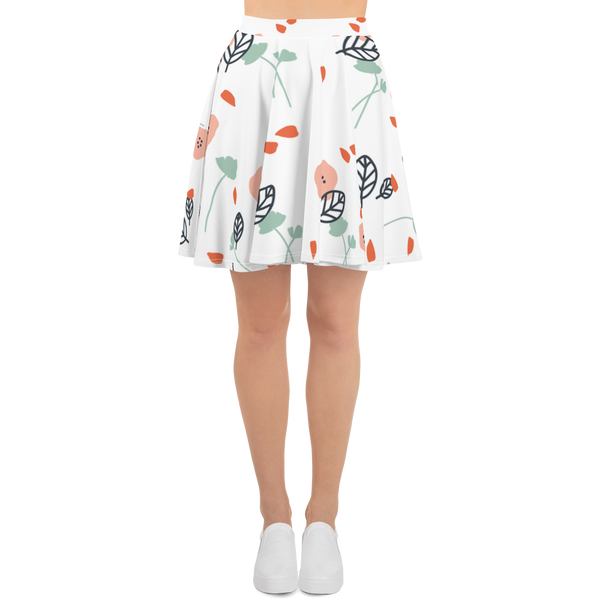 Cute Flowers Skater Skirt - Hosanna Store