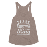 Daughter of the King Women's Tri-Blend Racerback Tank