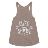 Saved Sinner Women's Tri-Blend Racerback Tank - Hosanna Store