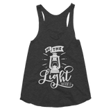 Be The Light Women's Tri-Blend Racerback Tank - Hosanna Store