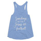 Sundays Are For Jesus And Football Women's Tri-Blend Racerback Tank - Hosanna Store
