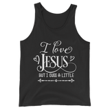 I Love Jesus But I Cuss A Little Tank Top - Hosanna Store