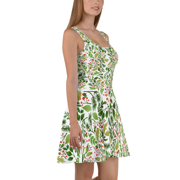 Holly Pattern Skater Dress