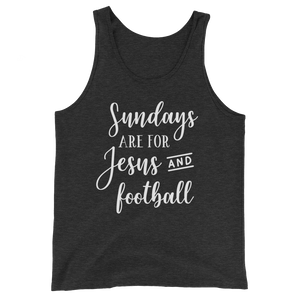 Sundays Are For Jesus And Football Tank Top - Hosanna Store