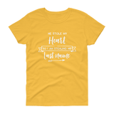 He Stole My Heart So I am Stealing His Last Name T-shirt - Hosanna Store