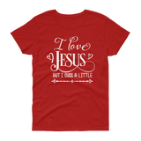 I Love Jesus But I Cuss A Little T-shirt - Hosanna Store
