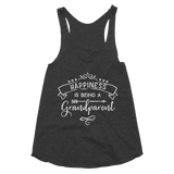 Happiness Is Being A Grandparent Women's Tri-Blend Racerback Tank - Hosanna Store