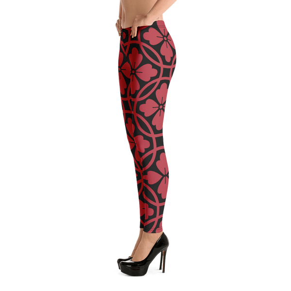 Black & Red Leggings - Hosanna Store