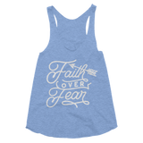 Faith Over Fear Women's Tri-Blend Racerback Tank - Hosanna Store