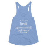 He Stole My Heart So I am Stealing His Last Name Women's Tri-Blend Racerback Tank