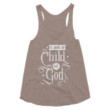 I'm A Child of God Women's Tri-Blend Racerback Tank - Hosanna Store